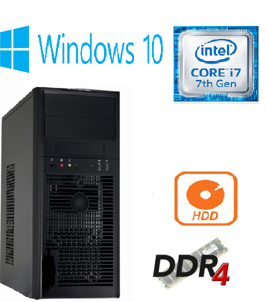 New Computer Coffee Lake 8th Gen Quad Core i7 8700 3.2GHz 8GB DDR4 1TB Windows10