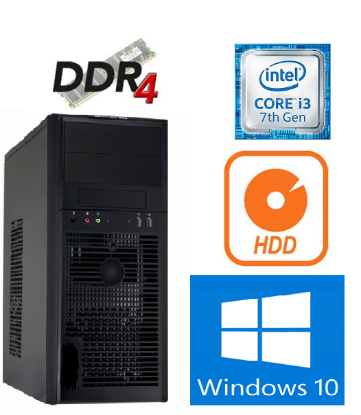 New Computer 8th Gen Core i3 8100 3.6GHz 8GB 1TB Windows10
